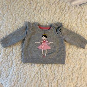 Baby Gap Soft Grey Ballerina Sweater 0-3M